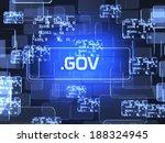 future technology blue... | Shutterstock . vector #188324945