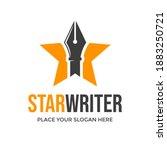 star writer vector logo... | Shutterstock .eps vector #1883250721