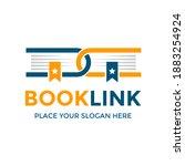 book link vector logo template. ... | Shutterstock .eps vector #1883254924