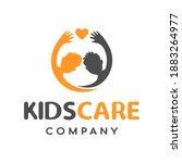 kids care vector logo template. ... | Shutterstock .eps vector #1883264977