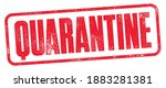 quarantine stamp with detailed...   Shutterstock .eps vector #1883281381