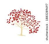 japanese red maple vector... | Shutterstock .eps vector #1883289697