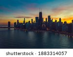 Beautiful Sunset Above Chicago...