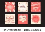 valentines day for social media ... | Shutterstock .eps vector #1883332081