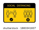 social distancing. keep the 1 2 ...   Shutterstock .eps vector #1883341837