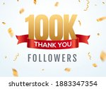 thank you 100000 followers... | Shutterstock .eps vector #1883347354
