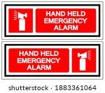 hand held emergency alarm... | Shutterstock .eps vector #1883361064