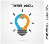 creative light bulb idea and... | Shutterstock .eps vector #188337047
