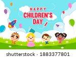 happy children's day card... | Shutterstock .eps vector #1883377801