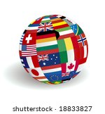 the sphere world flags | Shutterstock . vector #18833827