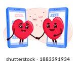 online dating. hearts couple in ...   Shutterstock .eps vector #1883391934