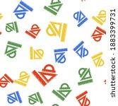 color set ruler  triangular... | Shutterstock .eps vector #1883399731