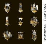 vintage castles vector logos or ... | Shutterstock .eps vector #1883417227