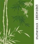 green asian bamboo background | Shutterstock .eps vector #188341865