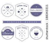 set of vintage styled design... | Shutterstock .eps vector #188343311