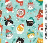seamless vector pattern with...   Shutterstock .eps vector #1883436901