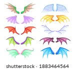 dragon wings. different myth... | Shutterstock .eps vector #1883464564