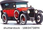 old cartoon retro car. 1920s.... | Shutterstock .eps vector #1883473894
