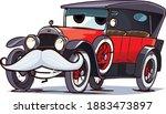 old cartoon retro car character.... | Shutterstock .eps vector #1883473897