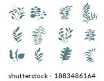 simle abstract plants set on...   Shutterstock .eps vector #1883486164