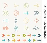 arrow sign icon set doodle hand ... | Shutterstock .eps vector #188349251