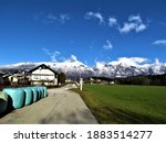View Of Snow Covered Peak Of...