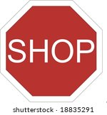 shop sign | Shutterstock . vector #18835291