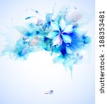 Light Abstract Blue Poster Wit...