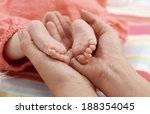 close up photo of bare baby... | Shutterstock . vector #188354045