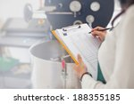 hand signing document about... | Shutterstock . vector #188355185