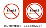 no smoking. isolated on white... | Shutterstock .eps vector #1883552287