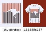 inverted silhouette of kangaroo ... | Shutterstock .eps vector #1883556187