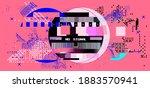 retro vhs background like in... | Shutterstock .eps vector #1883570941