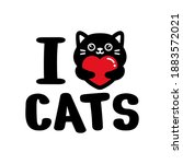 i love cats quote graphic design   Shutterstock .eps vector #1883572021
