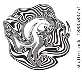 monochrome abstract figure with ...   Shutterstock .eps vector #1883583751