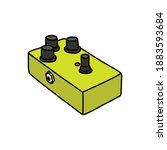 distortion pedal doodle icon ...   Shutterstock .eps vector #1883593684