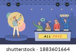 song contest television show... | Shutterstock .eps vector #1883601664