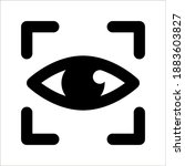 eye scan vector icon  security...   Shutterstock .eps vector #1883603827