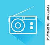radio vector icon | Shutterstock .eps vector #188362661