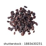 Dried Raisins Isolated On White ...