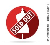 mannequin with sold out sign... | Shutterstock .eps vector #1883646847