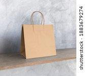 blank kraft paper bag mockup.   Shutterstock . vector #1883679274