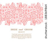 wedding invitation cards with... | Shutterstock . vector #188369864