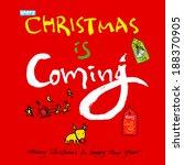 christmas poster | Shutterstock .eps vector #188370905