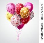 valentines day balloons vector... | Shutterstock .eps vector #1883726371
