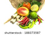 vegetables ingredients group of ... | Shutterstock . vector #188373587