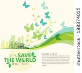 save the world | Shutterstock .eps vector #188374025