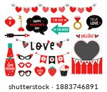 photo booth props for...   Shutterstock .eps vector #1883746891