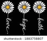 Set Of Sunflowers With Blank...