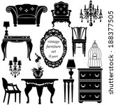 set of antique furniture  ... | Shutterstock .eps vector #188377505